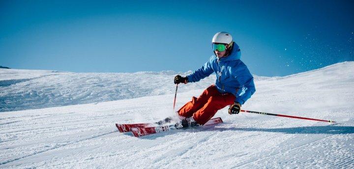 Knie pijn bij skiën
